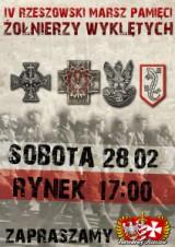 Zaproszenie na IV Rzeszowski Marsz Pamięci Żołnierzy Wyklętych